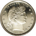 Proof Barber Quarters: , 1896 25C PR67 Deep Cameo PCGS. Both sides of this needle-sharp, Superb Gem example present as fully brilliant. Not only the...