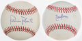 Autographs:Baseballs, Randy Johnson And Robin Roberts Single Signed Baseballs Lot Of2....