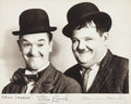 "Movie Posters:Comedy, Laurel and Hardy (MGM, 1930s). Autographed Portrait Photo (8"" X10"").. ..."