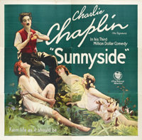 "Sunnyside (First National, 1919). Six Sheet (81"" X 81"")"