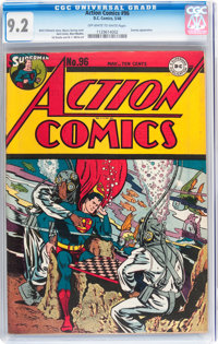 Action Comics #96 (DC, 1946) CGC NM- 9.2 Off-white to white pages