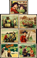 "Movie Posters:Western, Westward Ho (Republic, 1935). Title Lobby Card and Lobby Cards (6)(11"" X 14"").. ... (Total: 7 Items)"