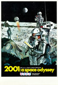 "Movie Posters:Science Fiction, 2001: A Space Odyssey (MGM, 1968). Midget Window Card (8"" X 14"")Cinerama Style.. ..."