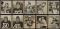 Football Cards:Sets, 1948 Bowman Football Partial Set (35/108) With Stars and Baugh Rookie. ...