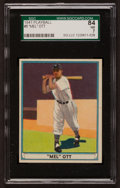 Baseball Cards:Singles (1940-1949), 1941 Play Ball Mel Ott #8 SGC 84 NM 7....