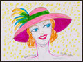 Movie/TV Memorabilia:Original Art, Phyllis Diller. Doodle for Hunger. Marker on paper. 9 x 12Inches. Estimate: $100-$300. Condition: Fine. ...