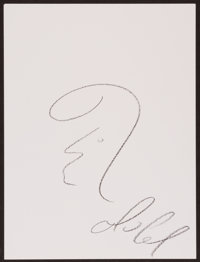 Mario Lemieux Doodle for Hunger Crayon on paper 9 x 12 Inches Estimate: $100-$300 Condition