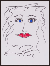 Kelly Preston Doodle for Hunger Marker on paper 9 x 12 Inches Estimate: $100-$300 Condition