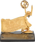 Movie/TV Memorabilia:Awards, A National Academy of Television Arts and Sciences Award, 1965....