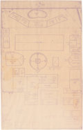 Movie/TV Memorabilia:Documents, A Frank Sinatra Page of Blueprints from His Palm Springs Home....