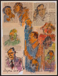 Movie/TV Memorabilia:Original Art, Hank Virgona. Doodle for Hunger. Mixed Media on paper. 9 x12 Inches. Estimate: $100-$300. Condition: Fine. ...