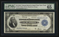 Large Size:Federal Reserve Bank Notes, Fr. 752 $2 1918 Federal Reserve Bank Note PMG Gem Uncirculated 65 EPQ.. ...