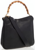 Luxury Accessories:Bags, Gucci Black Leather Diana Bag with Bamboo Handle. ...