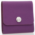Luxury Accessories:Accessories, Hermes Violet Chevre Leather Post-It Holder with PalladiumHardware. ...