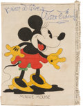 Movie/TV Memorabilia:Autographs and Signed Items, A Walt Disney Signed Needlepoint of Minnie Mouse, Circa 1940s....