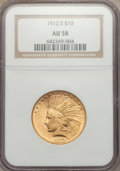 Indian Eagles, 1912-S $10 AU58 NGC....