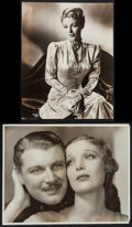"Movie Posters:Adventure, Loretta Young and Ralph Forbes in Beau Ideal by Ernest A. Bachrach& Other Lot (RKO, 1931). Portrait Photos (2) (10"" X 13""&... (Total: 2 Items)"