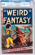 Golden Age (1938-1955):Science Fiction, Weird Fantasy #21 Don/Maggie Thompson Collection pedigree (EC,1953) CGC FN- 5.5 Off-white to white pages....