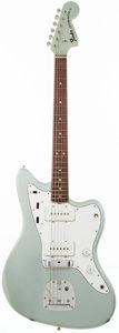 Musical Instruments:Electric Guitars, 1966 Fender Jazzmaster Inca Silver Solid Body Electric Guitar,#130338. ...