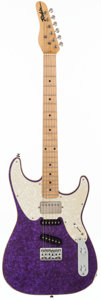 Musical Instruments:Electric Guitars, 1990 Robin Ranger Purple Solid Body Electric Guitar, #901315....