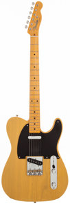 Musical Instruments:Electric Guitars, 2010 Fender '52 USA Re-issue Butterscotch Solid Body ElectricGuitar, #70755....
