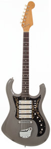 Musical Instruments:Electric Guitars, 1967 Teisco Del Rey Apollo Grey Solid Body Electric Guitar,#N/A....