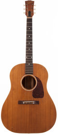 Musical Instruments:Acoustic Guitars, Late 1940's Gibson J-45 Natural Acoustic Guitar, #N/A....