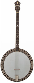 Musical Instruments:Banjos, Mandolins, & Ukes, 1920's Howard Natural Tenor Banjo, #N/A....