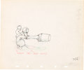 Animation Art:Production Drawing, Donald Duck Production Drawing Animation Art (Walt Disney,1930s-40s)....