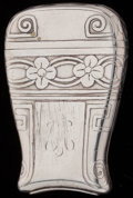 Silver Smalls:Match Safes, A TIFFANY & CO. SILVER MATCH SAFE, New York, New York, circa 1900. Marks: TIFFANY & CO., 16091, MAKERS, 654, STERLING, 925...