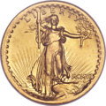 High Relief Double Eagles, 1907 $20 High Relief, Wire Rim -- Cleaned -- ANACS. Unc Details, Net MS60....
