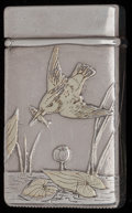 Silver Smalls:Match Safes, A TIFFANY & CO. SILVER AND SILVER GILT MATCH SAFE, New York,New York, circa 1873-1891. Marks: TIFFANY & CO., STERLINGSIL...