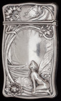 Silver Smalls:Match Safes, A GORHAM SILVER MATCH SAFE, Providence, Rhode Island, circa 1900.Marks: (lion-anchor-G), STERLING, B2510. 2-1/2 inches ...