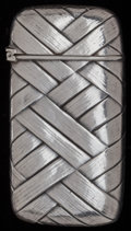 Silver Smalls:Match Safes, A GORHAM SILVER MATCH SAFE, Providence, Rhode Island, circa 1894.Marks: (lion-anchor-G), STERLING, 1070, (date mark). 2...