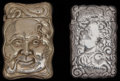 Silver Smalls:Match Safes, TWO AMERICAN SILVER AND SILVER GILT MATCH SAFES, circa 1900. Marksto one: STERLING. 2-3/8 inches high (6.0 cm) (larger)...(Total: 2 Items)