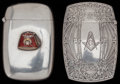 Silver Smalls:Match Safes, TWO KERR SILVER, SILVER GILT AND ENAMEL MATCH SAFES, Newark, NewJersey, circa 1907. Marks to both: (fasces), STERLING, 27...(Total: 2 Items)