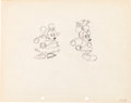 Animation Art:Production Drawing, Mickey's Mellerdrammer Mickey Mouse and Minnie MouseProduction Drawing Animation Art (Walt Disney, 1933)....