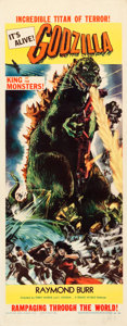 "Movie Posters:Science Fiction, Godzilla (Trans World, 1956). Insert (14"" X 36"").. ..."