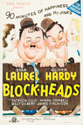 "Movie Posters:Comedy, Block-Heads (MGM, 1938). Australian One Sheet (26.75"" X 40"").. ..."