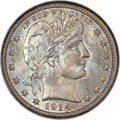 Barber Quarters, 1914-S 25C MS65 NGC. CAC....