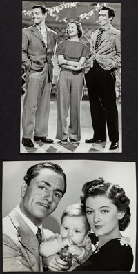 """Another Thin Man by Laszlo Willinger & Other Lot (MGM, 1939). Trimmed Portrait Photos (2) (8.5"""" X 10.25&quo..."""