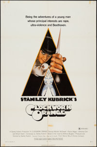 """A Clockwork Orange (Warner Brothers, 1972). One Sheet (27"""" X 41"""") X-Rated Style. Science Fiction"""