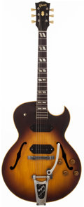 Musical Instruments:Electric Guitars, 1956 Gibson ES-175 Sunburst Archtop Acoustic Guitar, #A24711....