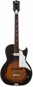 Musical Instruments:Electric Guitars, Circa 1961 Kay Speed Demon Sunburst Semi-Hollow Body ElectricGuitar, #N/A....