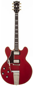 Musical Instruments:Electric Guitars, 1990's Gibson Custom 355 Left-Handed Cherry Semi-Hollow BodyElectric Guitar, #N/A. ...