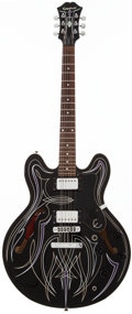 Musical Instruments:Electric Guitars, 1995 Epiphone DOT Black Semi-Hollow Body Electric Guitar,#S99055873....