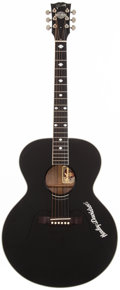 Musical Instruments:Acoustic Guitars, 1994 Gibson Harley Davidson HD-LTD Black Acoustic Guitar,#92664016....