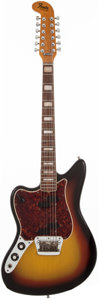 Musical Instruments:Electric Guitars, 1967 Fender Electric XII Sunburst Left-Handed 12-String Solid BodyElectric Guitar, Serial # 216454....