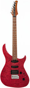 Musical Instruments:Electric Guitars, 1998 Modulus Genesis Red Solid Body Electric Guitar, Serial #980066....
