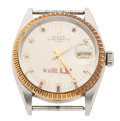Timepieces:Wristwatch, Rolex Ref. 1505 Steel & Gold Oyster Perpetual Date, circa 1972....